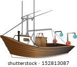 dory wooden boat with... | Shutterstock .eps vector #152813087