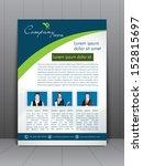 professional business flyer... | Shutterstock .eps vector #152815697