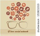 social network concept | Shutterstock .eps vector #152821313