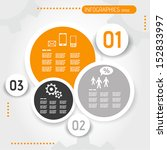 orange circle infographic... | Shutterstock .eps vector #152833997