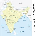 india map | Shutterstock .eps vector #152868773