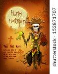 illustration of halloween ghost ... | Shutterstock .eps vector #152871707