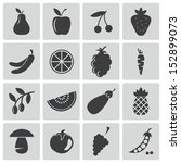 vector black  food icons set | Shutterstock .eps vector #152899073