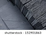 Slate Roofing Tiles In A Palle...