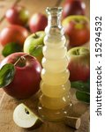 home made apple vinegar close... | Shutterstock . vector #15294532