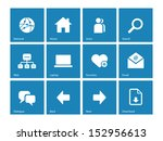 network icons on blue... | Shutterstock . vector #152956613