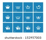 shopping basket icons on blue...