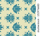 floral seamless pattern.... | Shutterstock .eps vector #152976683