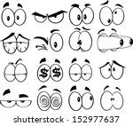 black and white cartoon funny... | Shutterstock .eps vector #152977637