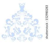 wedding dress design   Shutterstock .eps vector #152980283