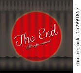 the end label over black... | Shutterstock .eps vector #152991857