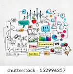 business colorful sketch image... | Shutterstock . vector #152996357
