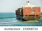 Container Cargo Ship With Pilo...