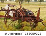 vintage farming equipment | Shutterstock . vector #153009323