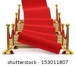 red carpet rolling down the... | Shutterstock . vector #153011807