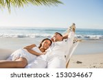 calm couple napping in a... | Shutterstock . vector #153034667