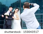 wedding photographer in action  ... | Shutterstock . vector #153043517