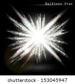 halftone star big bang | Shutterstock .eps vector #153045947