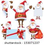 Santa Claus Posing In Several...