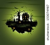 multiple orange halloween... | Shutterstock .eps vector #153074987
