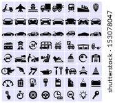 vector transportation icons   | Shutterstock .eps vector #153078047
