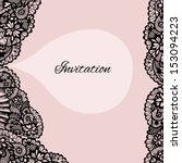 Invitation. Lace Background...