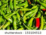 Green And Few Red Chili Pepper...