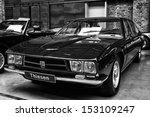 Small photo of BERLIN - MAY 11: Italian four-door sedan Iso Rivolta Fidia (black and white), 26th Oldtimer-Tage Berlin-Brandenburg, May 11, 2013 Berlin, Germany