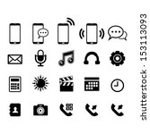 phone icon set | Shutterstock .eps vector #153113093