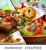 collage of tantalizing culinary ... | Shutterstock . vector #153129263