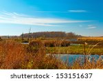 Horicon  Marsh in warm autumn day,Wisconsin