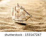Wooden Sail Ship Toy Model In...