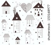 Vector Illustration Of Houses...