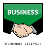 business handshake with text... | Shutterstock .eps vector #153174377