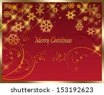 christmas greeting card... | Shutterstock . vector #153192623