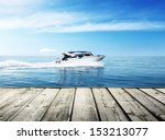 speed boat in tropical sea | Shutterstock . vector #153213077