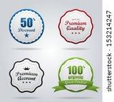 vector vintage badges set ... | Shutterstock .eps vector #153214247