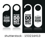 please do not disturb and... | Shutterstock .eps vector #153216413