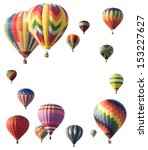 Hot Air Balloons Arranged...
