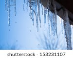 Beautiful Icicles Glint In The...