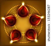 vector diwali festival diya... | Shutterstock .eps vector #153246287