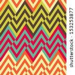seamless vector ethnic zigzag... | Shutterstock .eps vector #153253877