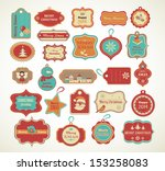 christmas set   labels  tags... | Shutterstock .eps vector #153258083