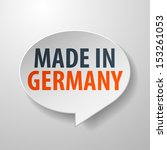 made in germany 3d speech... | Shutterstock .eps vector #153261053