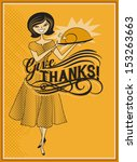 give thanks   retro style...   Shutterstock .eps vector #153263663