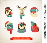 Christmas Hipster Animals....