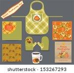 thanksgiving kitchen set ... | Shutterstock .eps vector #153267293