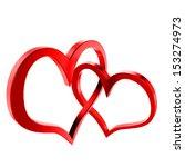 bound hearts | Shutterstock . vector #153274973