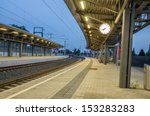 An Empty Railway Station With ...