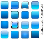 set of blank blue square... | Shutterstock .eps vector #153286583
